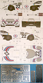 3MD 1/24 DECAL + PE DETAIL PORSCHE 917K MARTINI #22 1971 LM