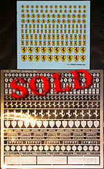 ATS 1/12 FERRARI ETCHED EMBLEMS + MATCHING DECALS 3D LOOK