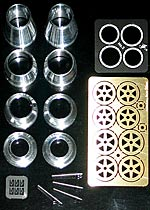 ATS 1/20 1/20 ALU TURNED WHEEL SET TAMIYA LOTUS 79 TYPE 78
