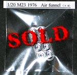 ATS 1/20 ALU AIR FUNNELS & BASE PLATE TAMIYA McLAREN M23