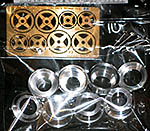 ATS 1/20 ALU TURNED WHEEL FULL DETAIL SET EBBRO LOTUS 72E