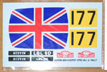 ATS 1/24 AUSTIN MINI COOPER UNION JACK ROOF DECAL