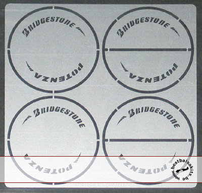ATS 1/24 POTENZA BRIDGESTONE ARROW TIRE PAINT TEMPLATE