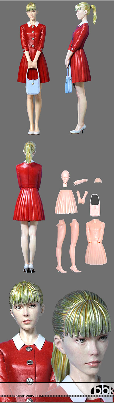 ATELIER IT 1/12 YOUNG WESTERN PIT GRID GIRL 60's STYLE STANDING