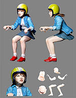 ATELIER IT 1/24 SCOOTER PIT GIRL FIGURINE