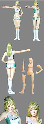 ATELIER IT 1/24 WESTERN PIT GRID GIRL FIGURINE