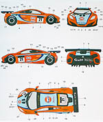 AUTOCOLOUR 1/24 GULF DECAL MP4-12C GT3 '11 MACAU GPDANNY WATTS
