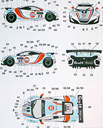 AUTOCOLOUR 1/24 GULF DECAL MP4-12C GT3 2012 MACAU GP #23 #25 MEINS