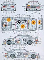 AUTOCOLOUR 1/24 MERCEDES 190E BERLIN 2000 #9 #10 LUDWIG SCHNEIDER