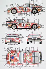 AUTOCOLOUR 1/24 PORSCHE 944 TURBO BLAUPUNKT RACING DECAL