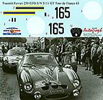 AUTOGRAPH 1/12 FERRARI 250GTO TOUR DE FRANCE 1963 No. 165 #5111GT