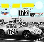 AUTOGRAPH 1/12 FERRARI 250GTO TOUR DE FRANCE 1964 No.172 #4153GT