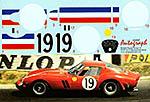 AUTOGRAPH 1/12 FERRARI 250GTO LE MANS 1962 No. 19 #3705GT