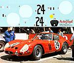 AUTOGRAPH 1/12 FERRARI 250GTO LE MANS 1963 No. 24 #4293 GT