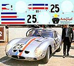 AUTOGRAPH 1/12 FERRARI 250GTO LE MANS 1963 No. 25 #4153GT