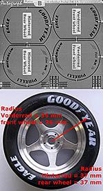 AUTOGRAPH 1/8 1/8 TIRE PAINT TMPLT GY MICHELIN PIRELLI