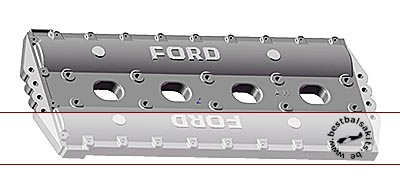 AZRM 1/12 1/12 DFV CAM COVERS with BLOCK FORD LOGO