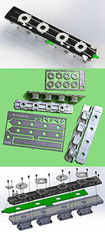 AZRM 1/12 DFV INLET MANIFOLD DETAIL SET for TAMIYA 1/12