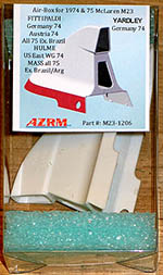 AZRM 1/12 McLAREN M23 + YARDLEY 74-75 WIDE AIR INTAKE
