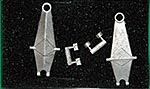 AZRM 1/12 1/12 M23 WHITE METAL FRONT SUSPENSION ARMS '75-'76
