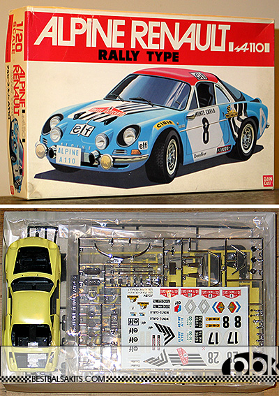 BANDAI 1/20 BANDAI 1/20 RENAULT ALPINE A110 MODEL KIT