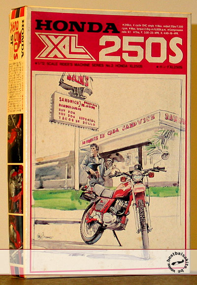 BANDAI 1/12 HONDA XL250 DIRT BIKE