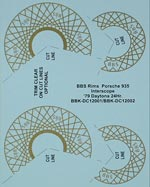 BBK 1/12 1/12 BBS GOLDEN RIM DECAL TAMIYA PORSCHE 935