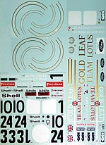 BBK 1/12 TRANS DECAL 72C EARLY 72D for LOTUS 72D TAMIYA