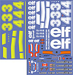 BBK 1/12 TYRRELL P34 SIX WHEELER REPLACEMENT DECAL f TAMIYA