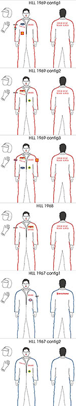 BBK 1/43 GRAHAM HILL DRIVER DECAL LOTUS YEARS 67 68 69