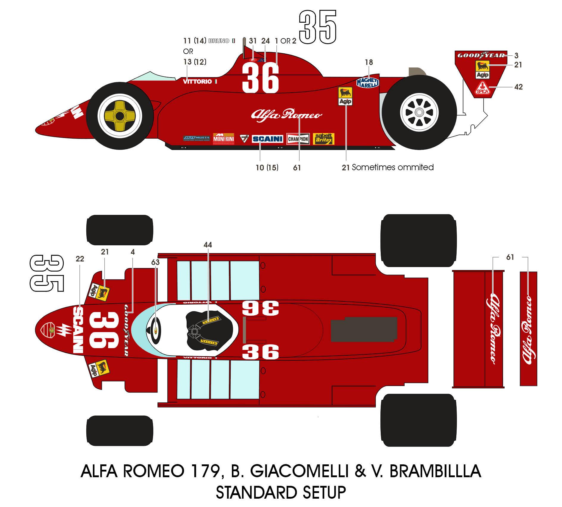 BBK: 1/12 ALFA ROMEO 179 'ALL REDS' + US & CANADIAN GP