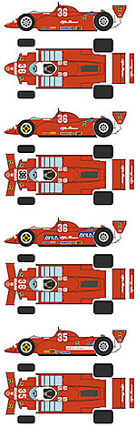 BBK 1/12 ALFA ROMEO 179 'ALL REDS' + US & CANADIAN GP
