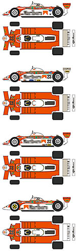 BBK 1/12 ALFA ROMEO 179 CIGARETTE SPONSORED LIVERIES '79 80