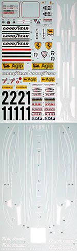 BBK 1/12 FERRARI 312T F1 #11 #12 TAMIYA LAUDA REGAZZONI