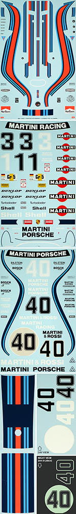 BBK 1/12 PORSCHE 935 MARTINI + LE MANS 1976 for TAMIYA