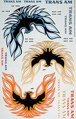 BBK 1/12 PONTIAC TRANS-AM FIRE BIRD LOGO 3pcs DOYUSHA OTAKI