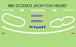 BBK 1/20 79-80 JACKY ICKX LIGIER HELMET DECAL