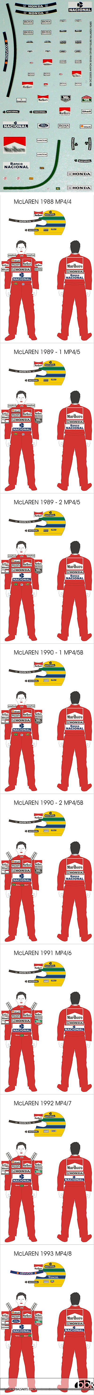 BBK 1/20 SENNA DECAL McLAREN MP4/4 MP4/5 MP4/6 MP4/7 MP4/8
