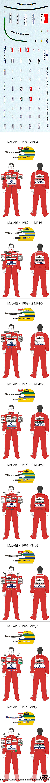 BBK 1/43 SENNA DECAL McLAREN MP4/4 MP4/5 MP4/6 MP4/7 MP4/8