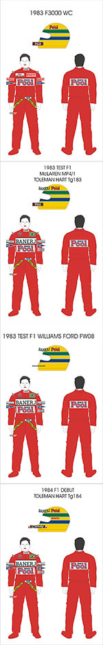 BBK 1/43 SENNA F3000 F1 TEST'83 TG183 TG184 FW08 BT52 MP4/1
