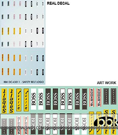 BBK 1/43 SEAT BELT MAKE LOGOS for TAMEO HIRO STUDIO27 BBR