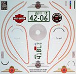 BBK 1/6 HARLEY DAVIDSON FAT BOY DECAL TAMIYA #16029