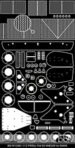 BBK 1/12 1/12 P34 SIX WHEELER PHOTO ETCH DETAIL UP