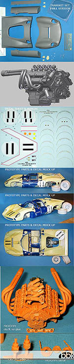 BBK 1/12 ASTON MARTIN #11 SURTEES LE MANS 1967 FULL TRANS