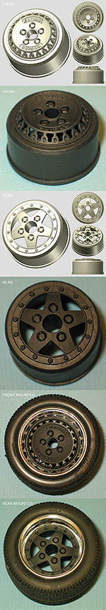BBK 1/12 RONAL 3D PRINTED WHEEL SET for TAMIYA PORSCHE 934