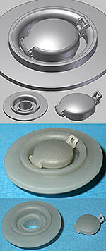 BBK 1/8 FUEL CAP & MOUNT, CLASSIC DESIGN