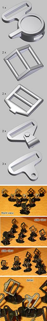 BBK 1/8 3D PRINT SABELT SEAT BELT HARDWARE SET