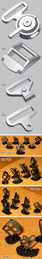 BBK 1/8 3D PRINT WILLANS BOSS SEAT BELT HARDWARE SET