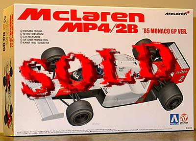 BEEMAX 1/20 McLAREN MP4/2B '85 MONACO GP PROST LAUDA MODEL KIT