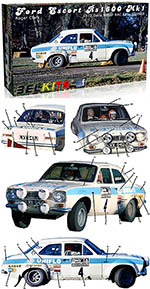 BELKITS 1/24 FORD ESCORT RS1600 MKI RAC RALLY 1972 CLARK